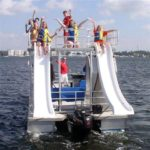pontoon boat slides
