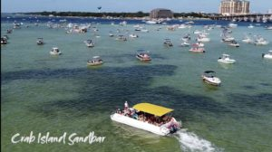 crab island adventure tour inflatables destin florida boat